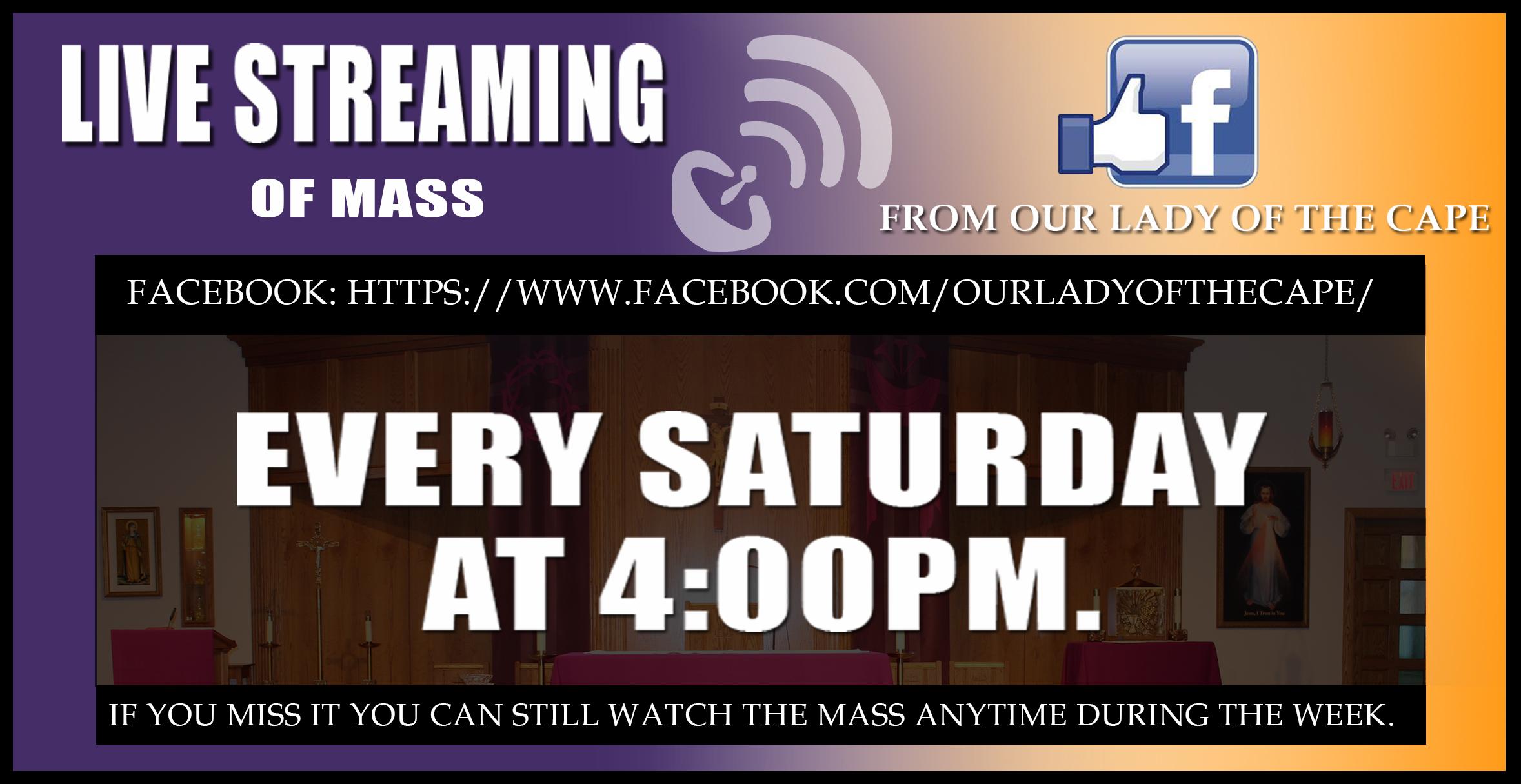 live stream cape cod catholic church mass